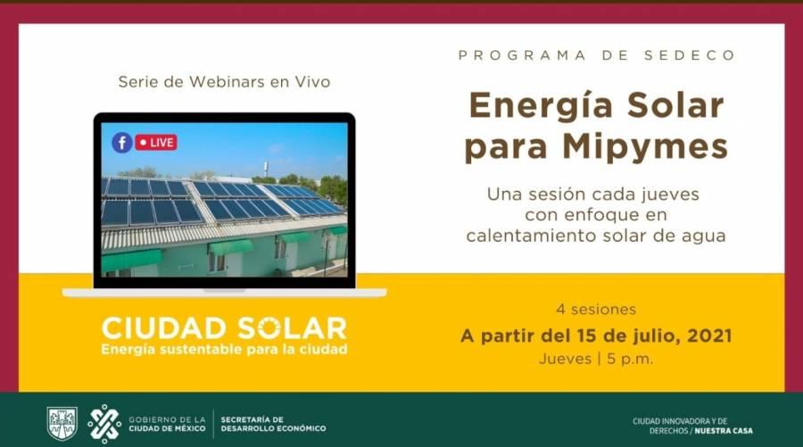 SEDECO mostrará beneficios de los calentadores solares de agua para empresas y negocios