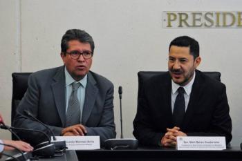 Es un funcionario profesional: Ricardo Monreal felicita a Martí Batres