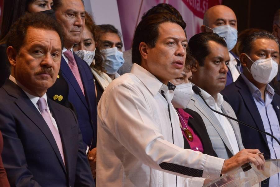 Mario Delgado responde a Monreal que elección de candidatos en Morena es por encuesta