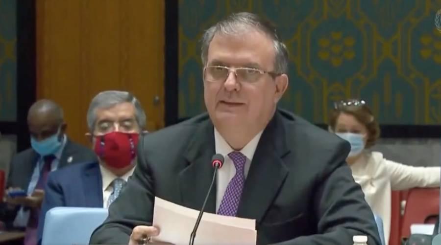 En la ONU, México denuncia embargo de EEUU sobre Cuba: Ebrard
