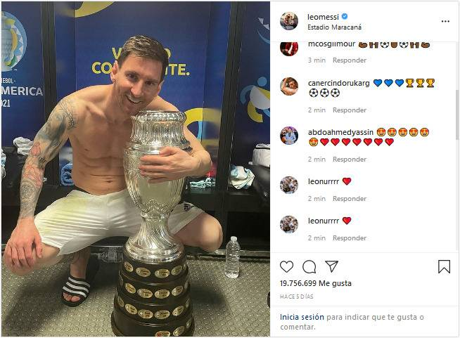 """Messi también """"la rompe"""" en Instagram; consigue récord gracias a la Copa América"""