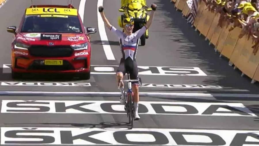 Matej Mohoric ganó en la 19º etapa del Tour de Francia