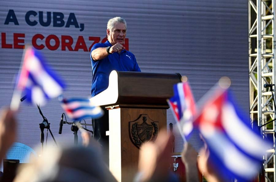 Presidente de Cuba, Miguel Díaz-Canel, denuncia difusión de