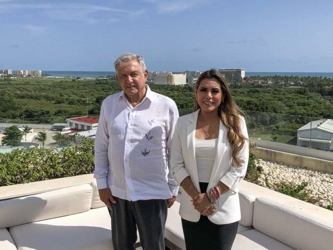 AMLO se reúne con Evelyn Salgado, gobernadora electa de Guerrero