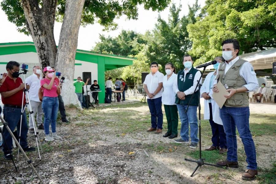 Más de 100 mil personas vacunadas con plan de reforzamiento en Chiapas: Zoé Robledo