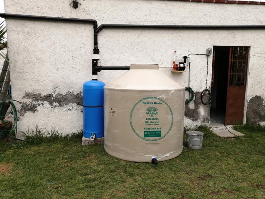 Promueven en la CDMX captación de agua de lluvia