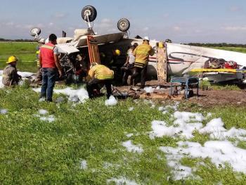 Avioneta se desploma en Aeropuerto Internacional de Durango; hay un muerto