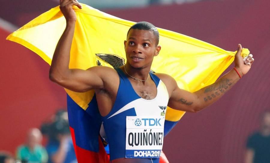 El velocista ecuatoriano, Álex Quiñónez, es suspendido un año por dopaje
