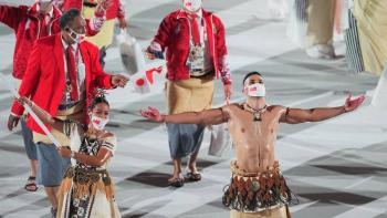 Abanderado de Tonga sorprendió en los Juegos Olímpicos Tokyo 2020