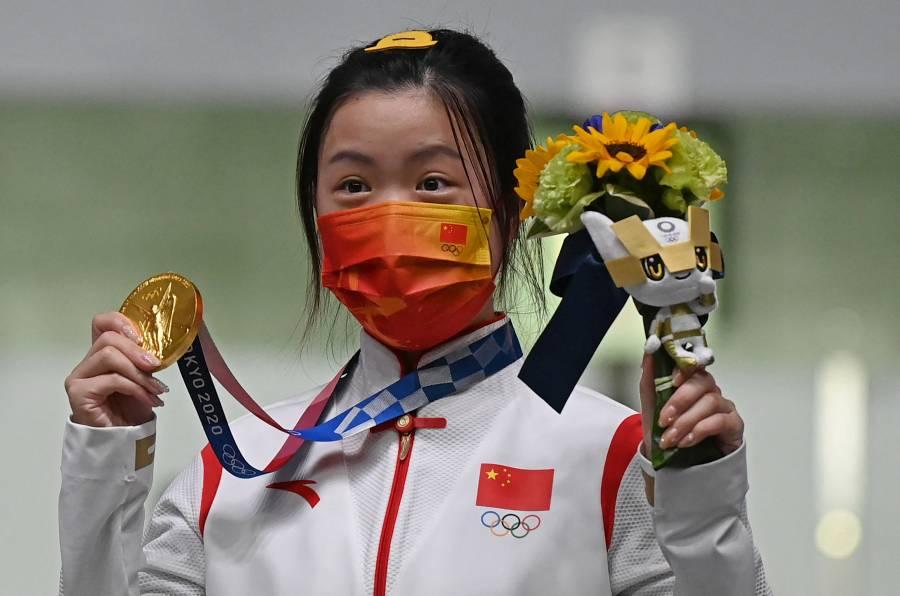 Yang Qian, primera medallista de oro en Tokio 2020