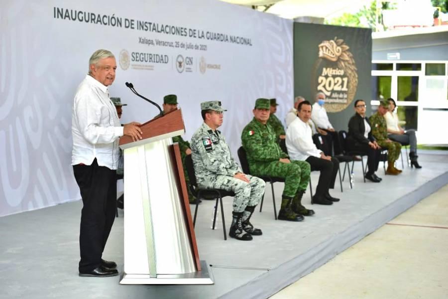 Anuncia AMLO presupuesto adicional de 50 mil mdp para Guardia Nacional
