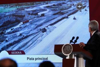 Aeropuerto de Santa Lucía lleva avance financiero de 80%: Hacienda