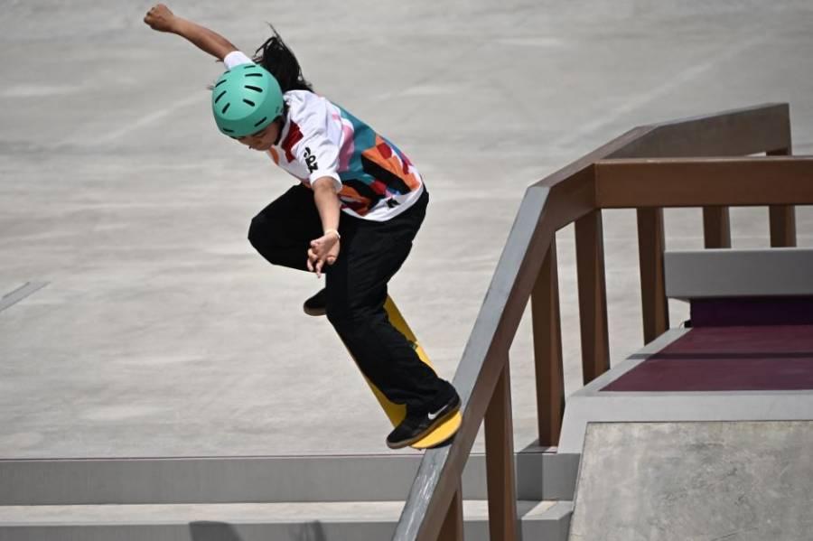 Oro para Japón y plata para Brasil en skate femenino con prodigios de 13 años