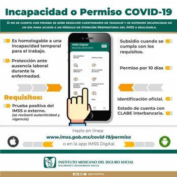 Habilita IMSS plataformas electrónicas para tramitar incapacidad por COVID-19