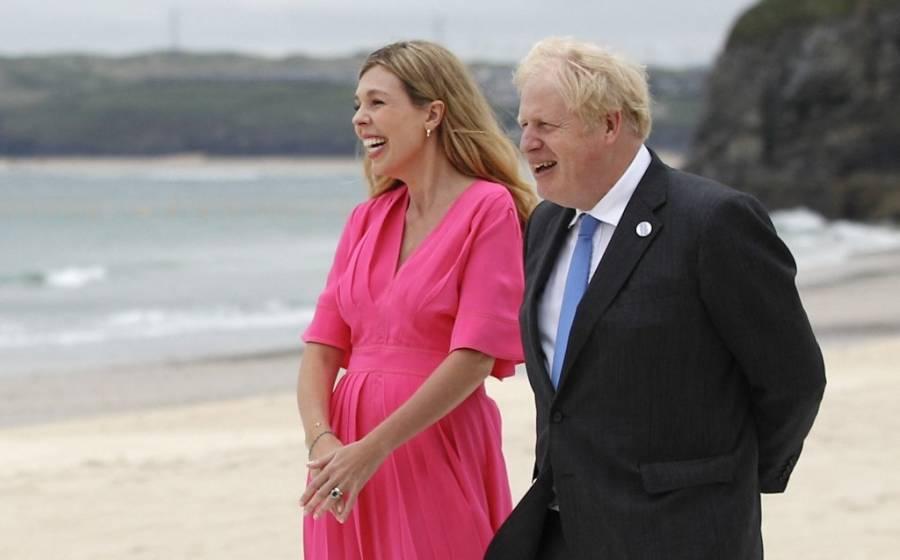 Boris Johnson espera a su segundo hijo