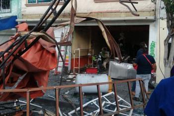 Explota tanque de gas en taquería de Iztacalco; hay 12 lesionados