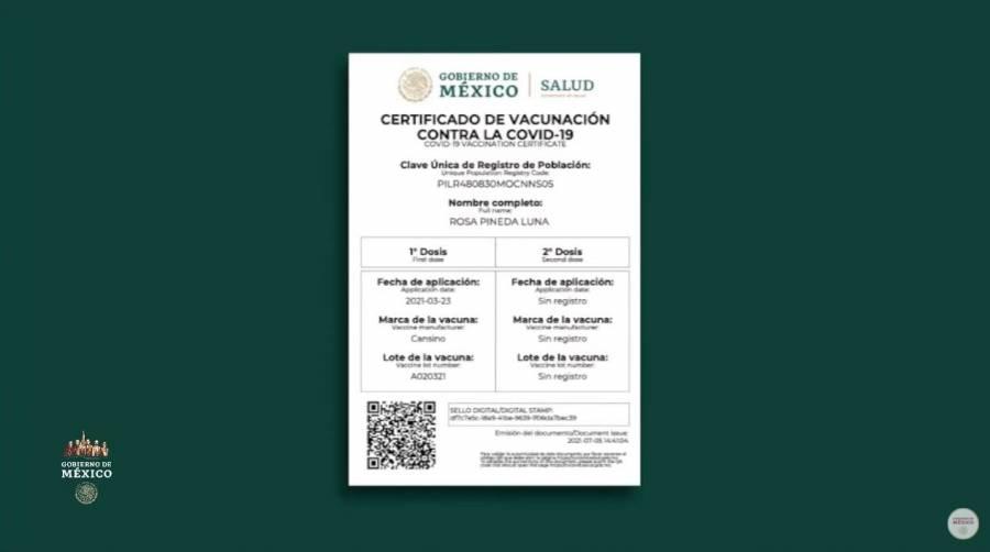 Demandan reforzar seguridad de Certificado de Vacunación COVID