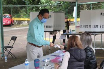 El INE reportó instalación de 94.87% mesas receptoras de la consulta popular