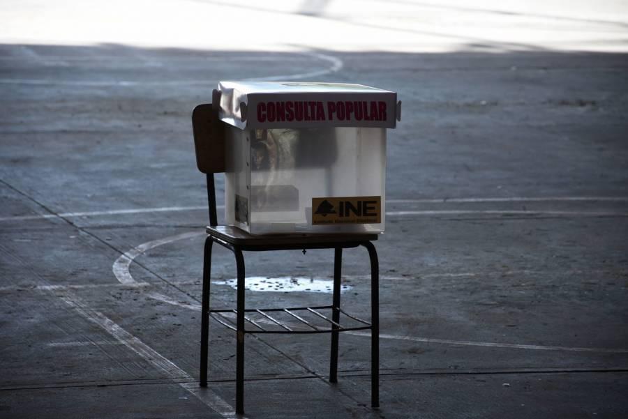 Vota 7 por ciento de los electores en Consulta; más del 90% apoya enjuiciar a los expresidentes