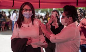 Concluyó aplicación de primera dosis de vacuna antiCovid en frontera norte