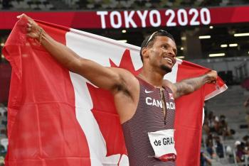 Tokio 2020 | Andre De Grasse gana los primeros 200 metros de la 'era post-Bolt'