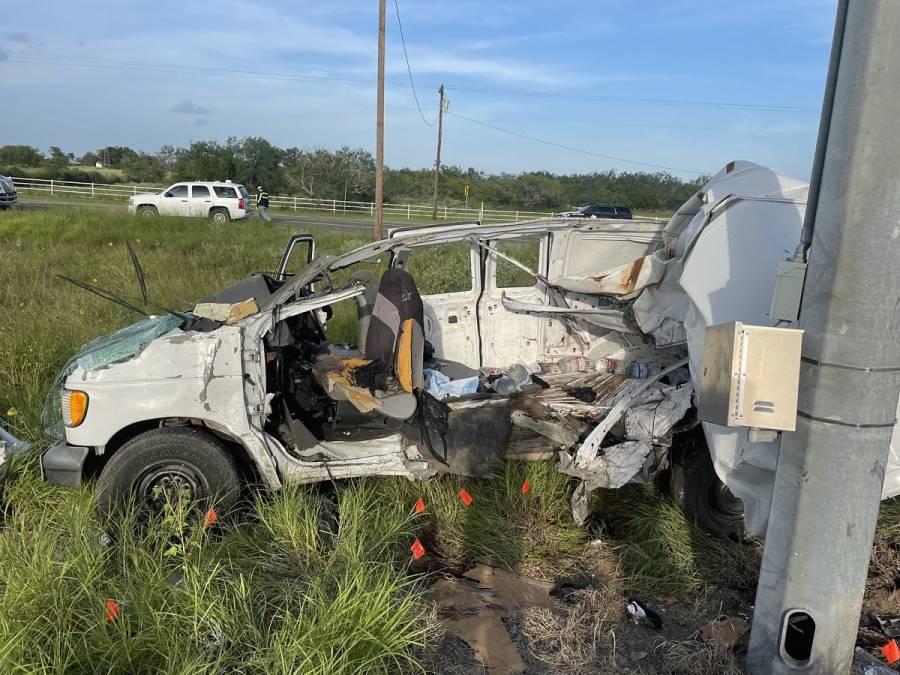 Accidente vial en Texas deja al menos 10 migrantes muertos