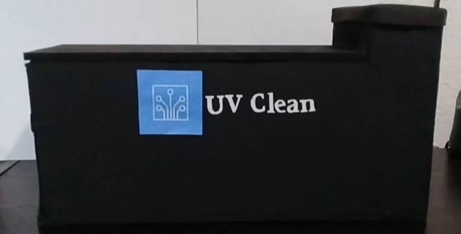 Politécnicos desinfectan artículos personales con dispositivo de luz ultravioleta