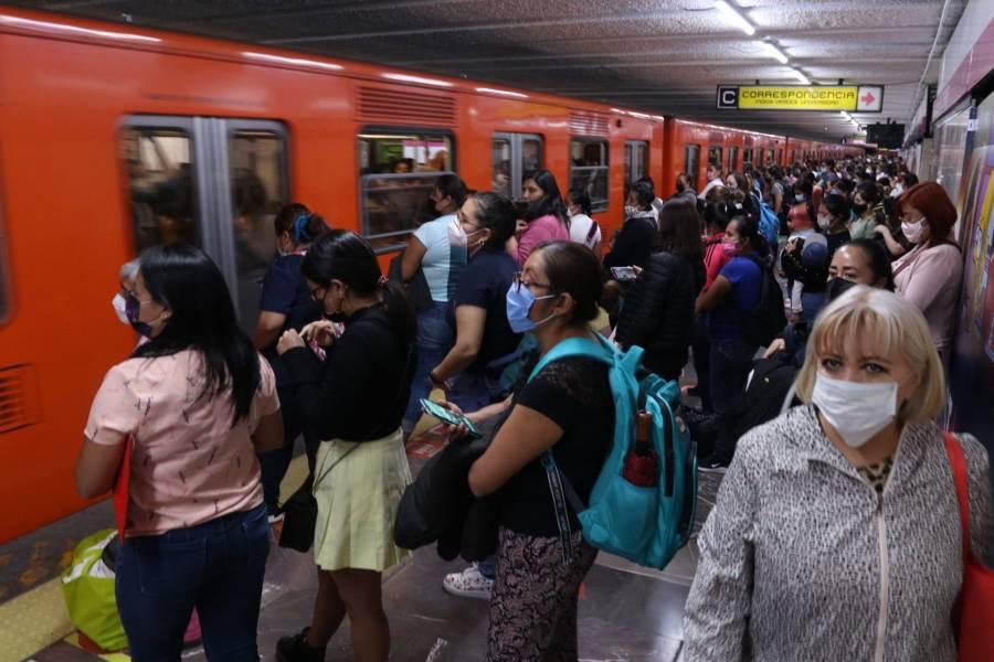 Metro activa marcha lenta en tres líneas por lluvias