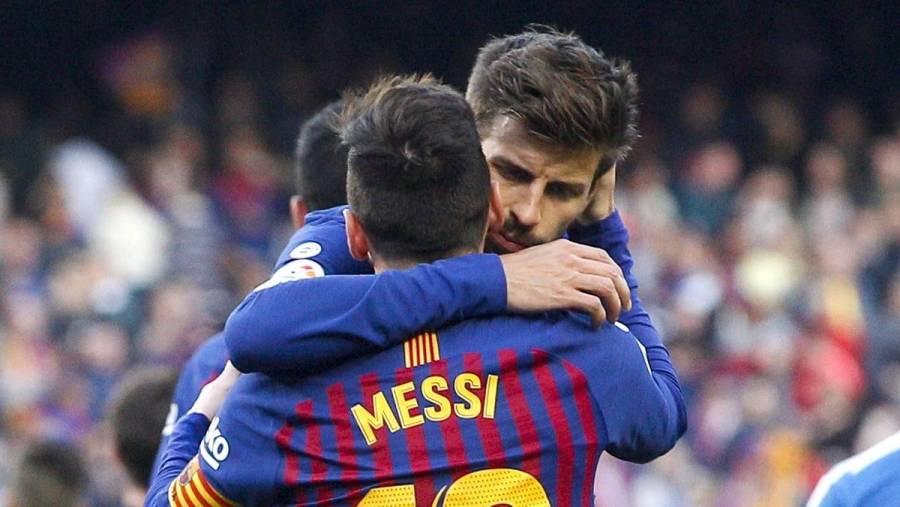 Jugadores del Barcelona empiezan a despedirse de Messi