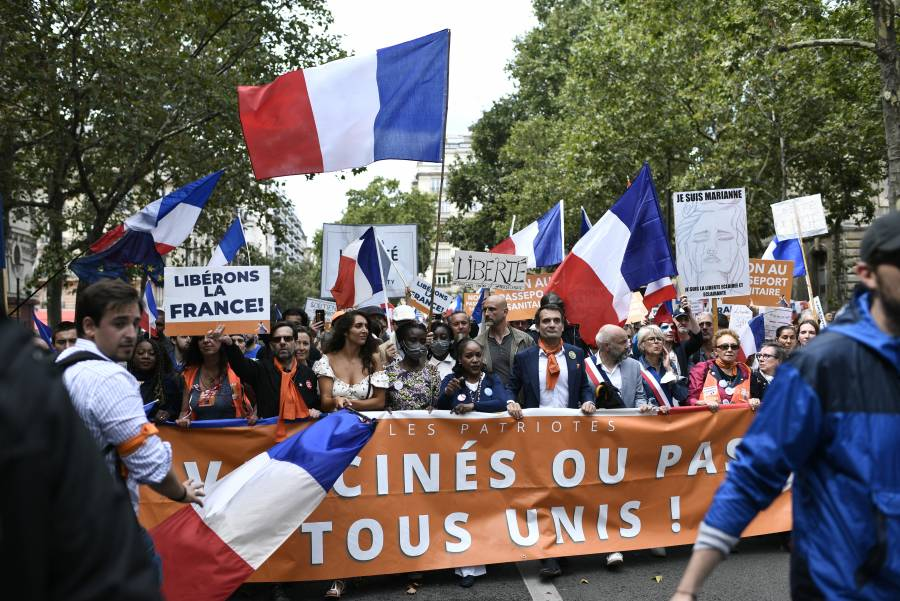 Anuncian marchas en Francia por cuarta semana contra medidas anticovid-19