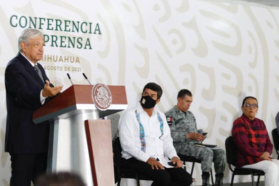 Gobernador Corral indica que seguirá apoyando la transformación del país; dice que gobernó con austeridad