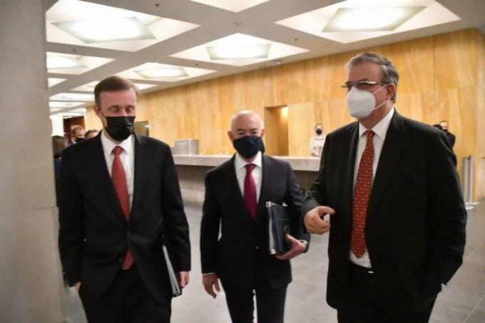 Muy buena reunión, dice Ebrard tras encuentro con funcionarios de EEUU