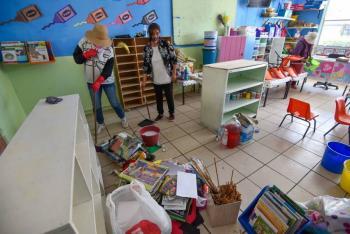 SEP convoca a maestros y padres de familia para limpiar escuelas