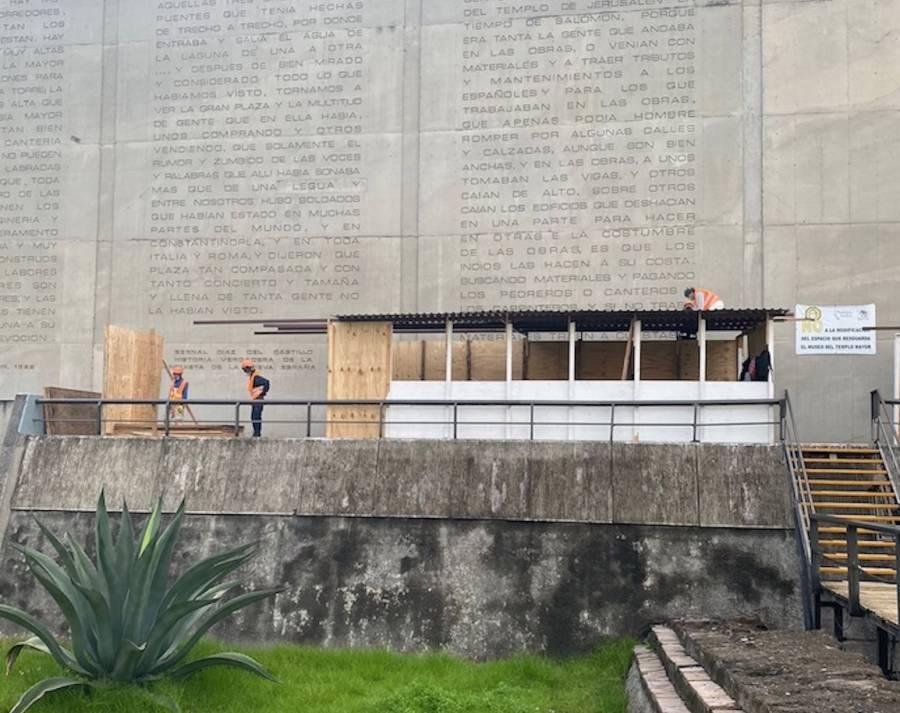 """Colapso en techo de la Casa de las Águilas, causada por """"granizada atípica"""""""