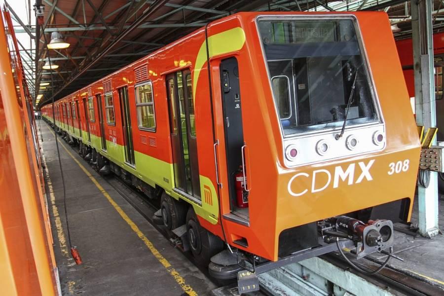 Metro retira tren que se salió de las vías en taller de Ticomán
