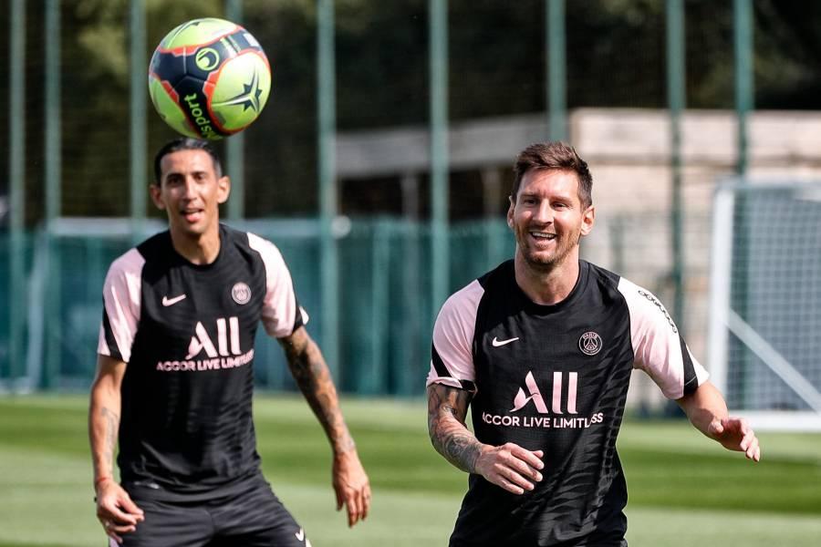 Lionel Messi tuvo su primer entrenamiento con el PSG