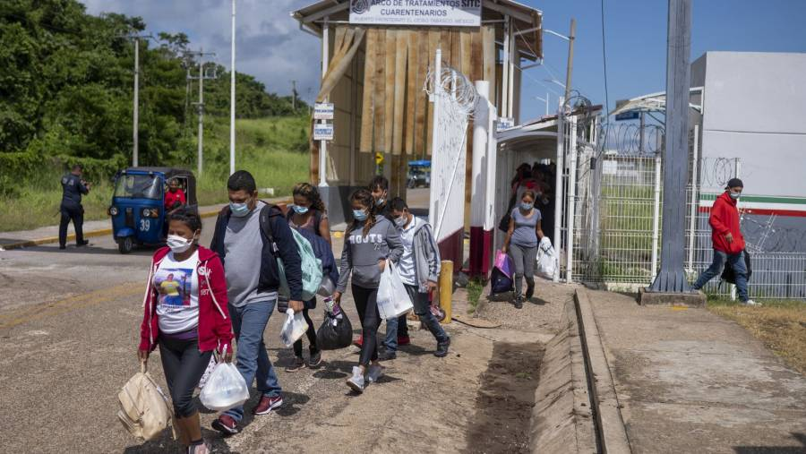 Acusan presión de EEUU a México para deportar a migrantes a frontera sur