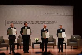 Concluye primera ronda de diálogo entre gobierno y oposición venezolana