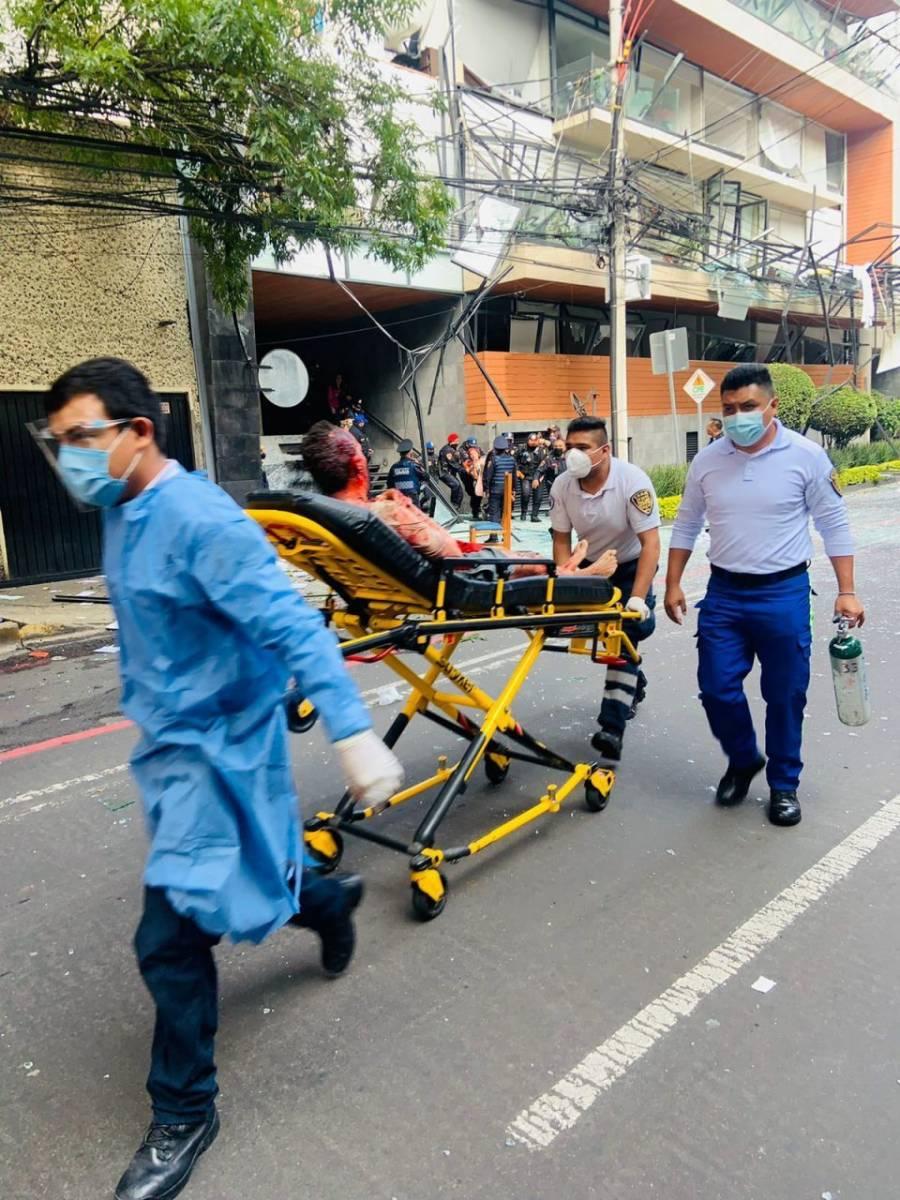 Lista de hospitalizados por explosión en avenida Coyoacán