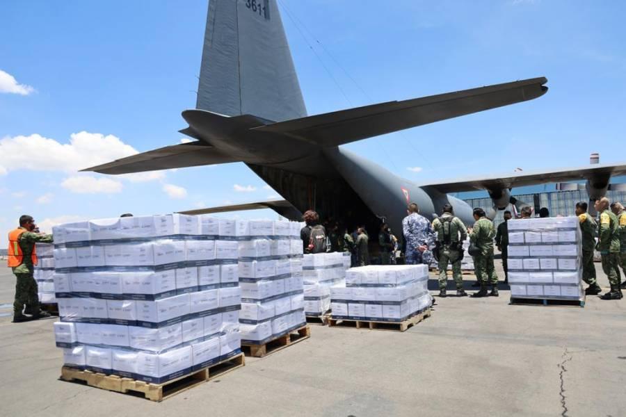 México envía 15.4 toneladas de ayuda humanitaria a Haití tras terremoto