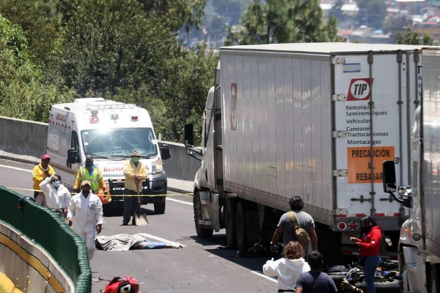 Identifican a motociclistas que murieron en accidente en la México-Cuernavaca