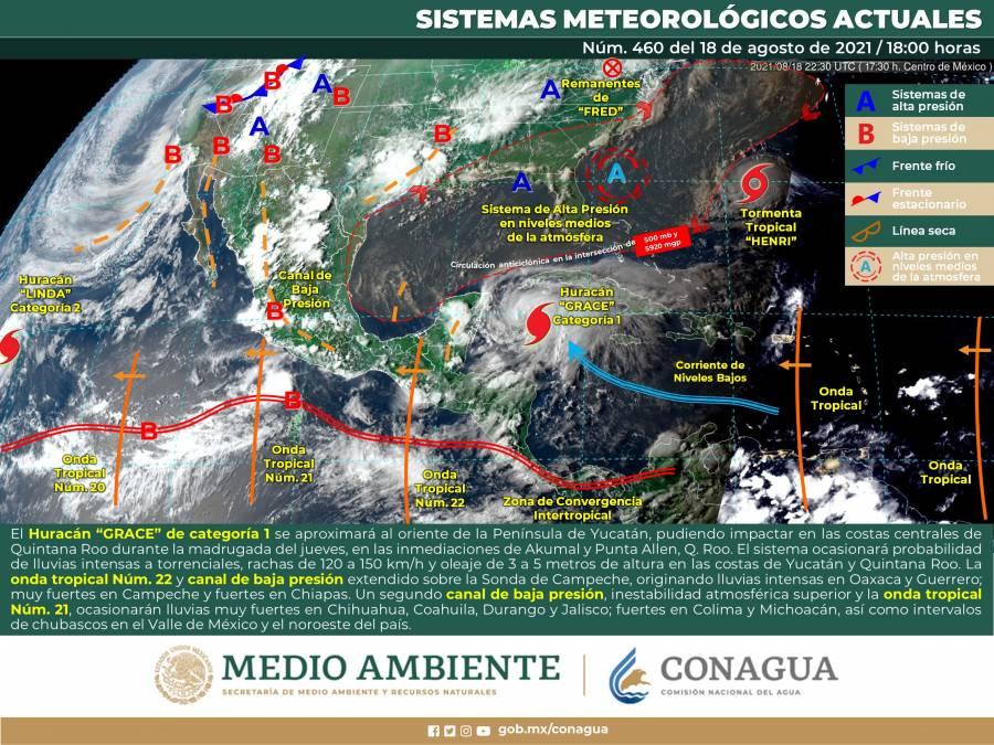 """Quintana Roo en alerta roja por huracán """"Grace"""""""
