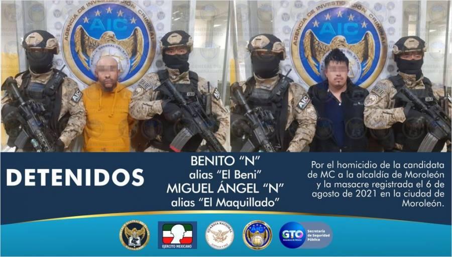 Caen dos presuntos responsables del asesinato de Alma Barragán, candidata a Moroleón