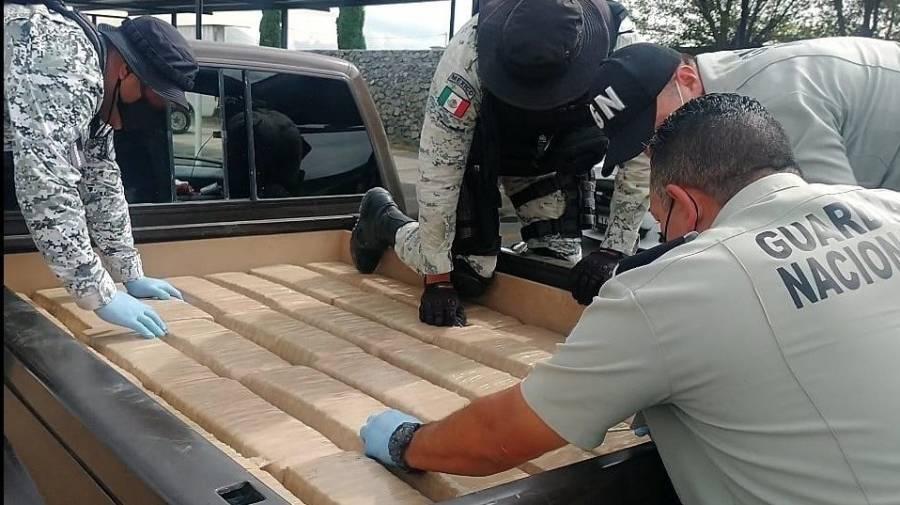 Guardia Nacional impide en Nuevo León comercialización de 400 kilos de marihuana