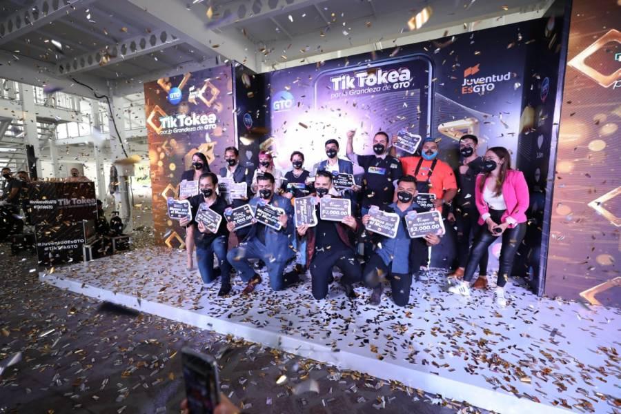 Reconocen a ganadores de convocatoria Tik Tokea por la Grandeza de Guanajuato
