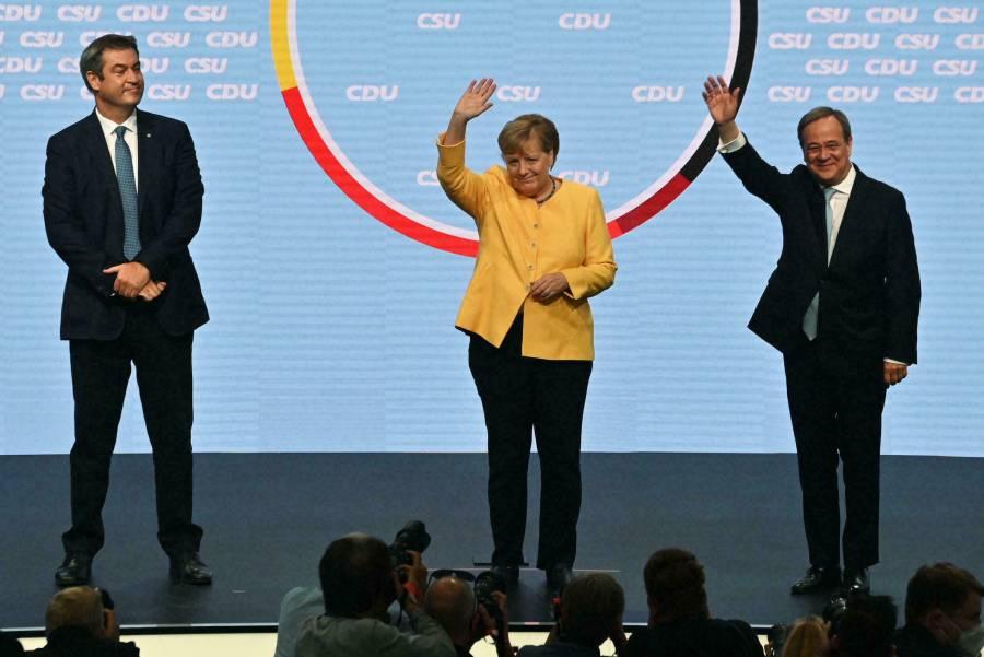 Angela Merkel rescató a Armin Laschet, candidato conservador
