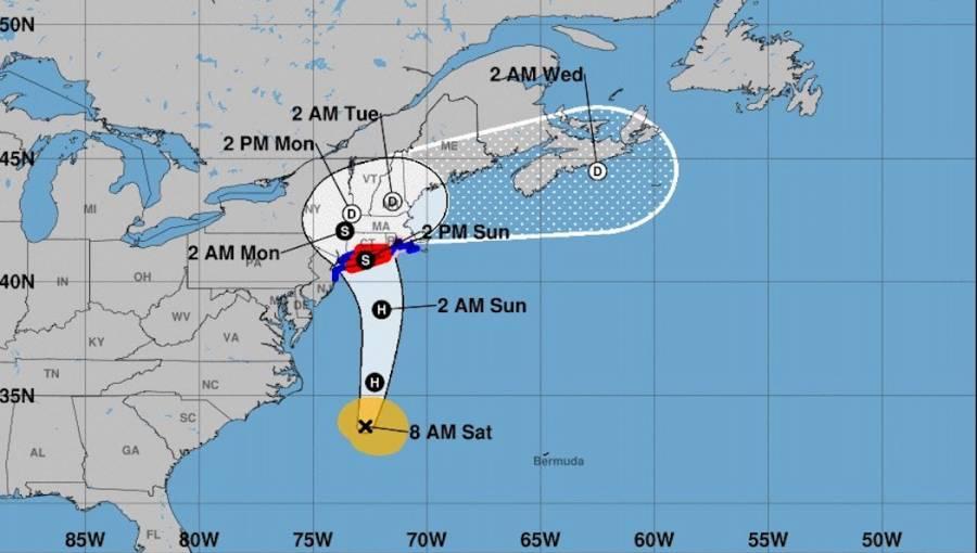 Henri se convertiría en huracán; emiten alerta para Nueva York y Nueva Inglaterra