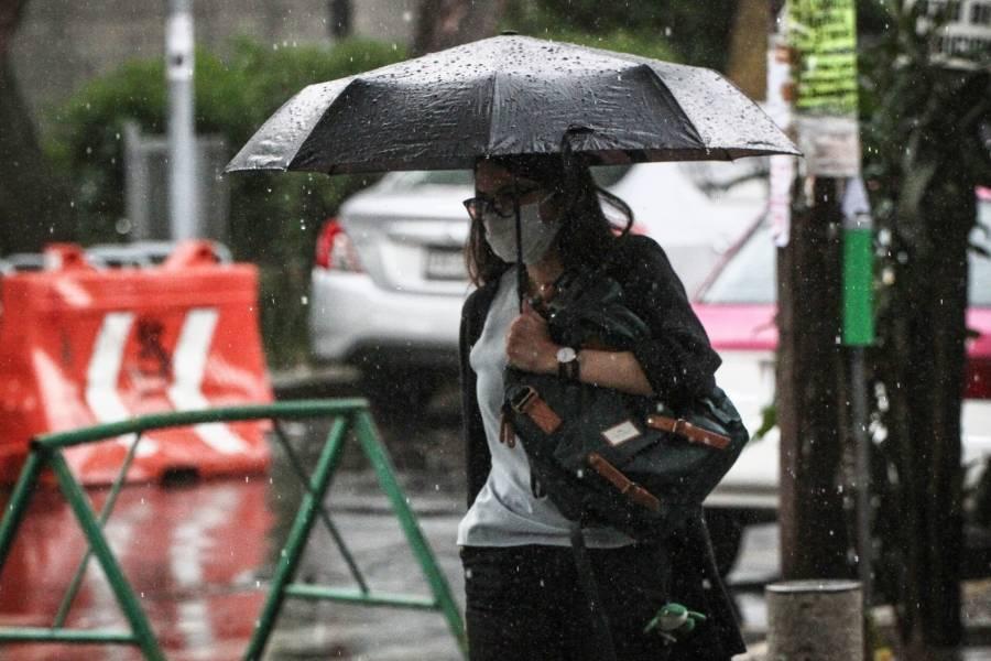 """Grace"" activa la Alerta Naranja por lluvias en la CDMX"