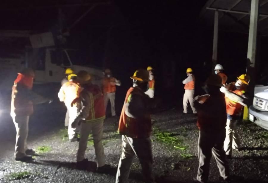 """""""Grace"""" deja sin electricidad a más de 500 mil usuarios: CFE"""