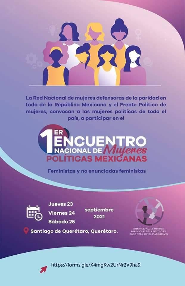 Convocan a primer encuentro nacional de mujeres políticas